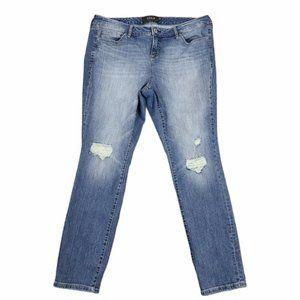 Torrid Premium Distressed Skinny High Rise Jeans
